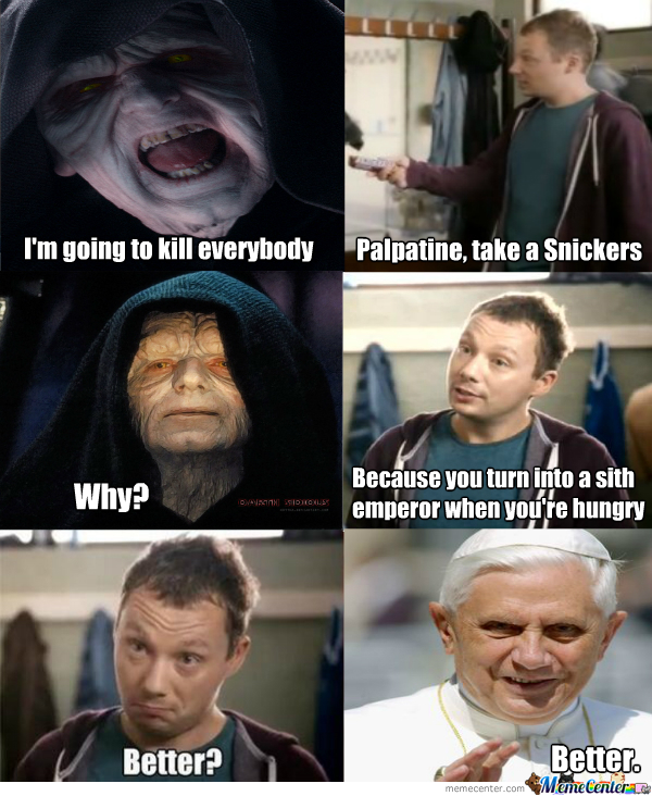 Palpatines Snickers By Kognak Meme Center