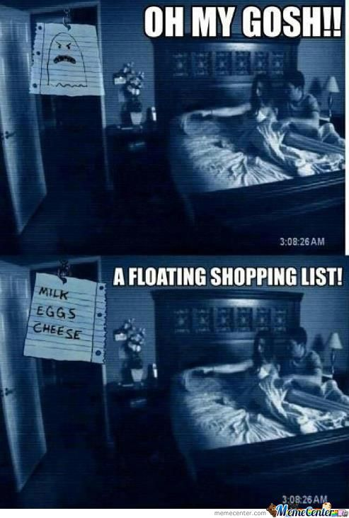 Paranormal Shopping List
