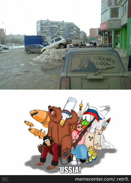 Parking Cool In Russia