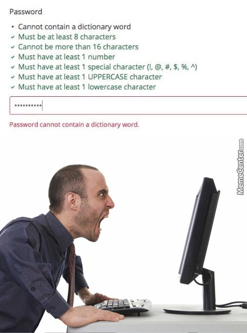 Password Creation Nowadays