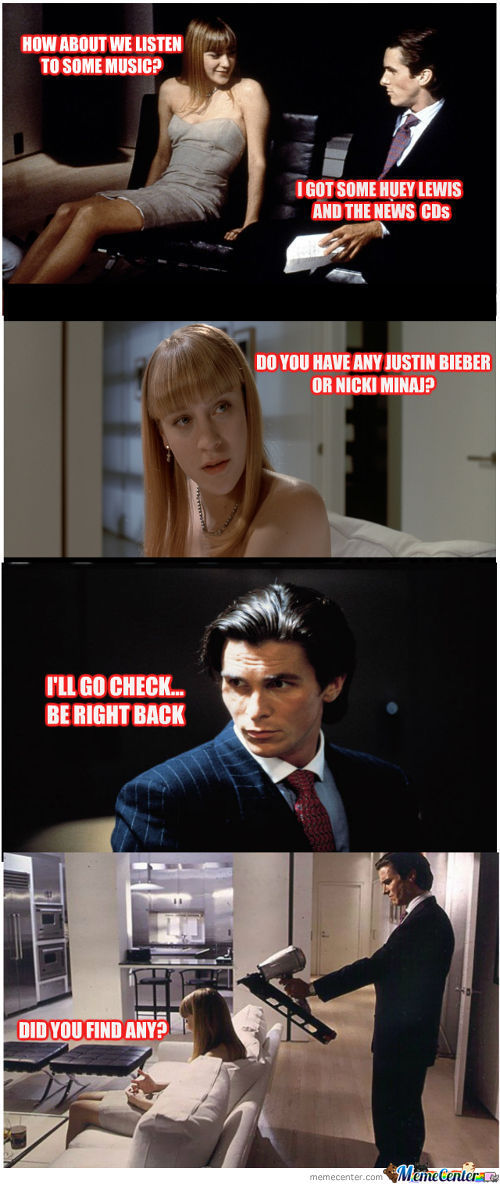 Patrick Bateman Does Not Approve