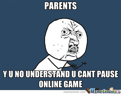 Pausing Online Games