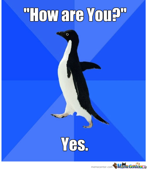 Penguin Is Socially Awkward