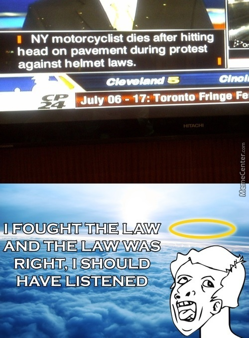 People Actively Protest Helmet Laws?