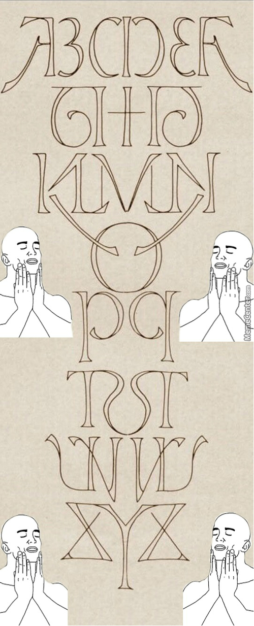 Perfectly Symmetrical Alphabet
