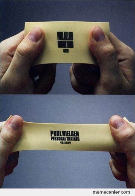 personal trainer business card by ben meme center