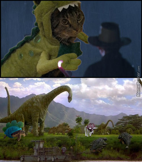 Pets In Dinosaur Outfits Would Have Fit Great In Jurassic Park
