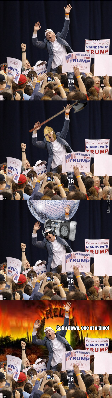Photoshop Complication At Rally Bust Up
