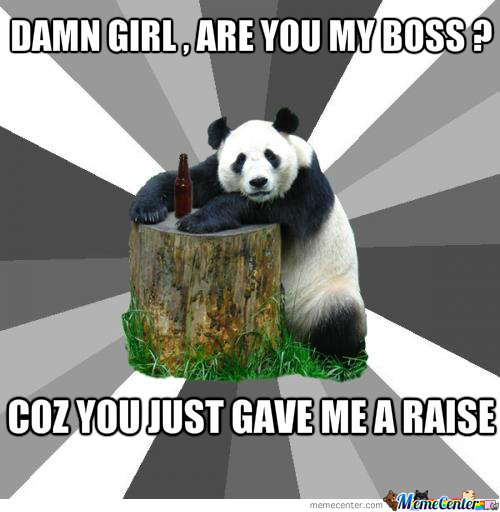 Pickup Line Panda Strikes Again