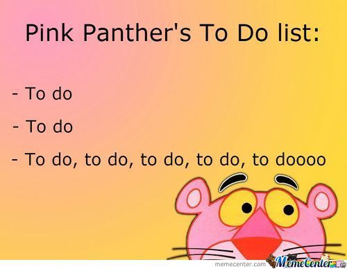 Pink Panther: To Do List