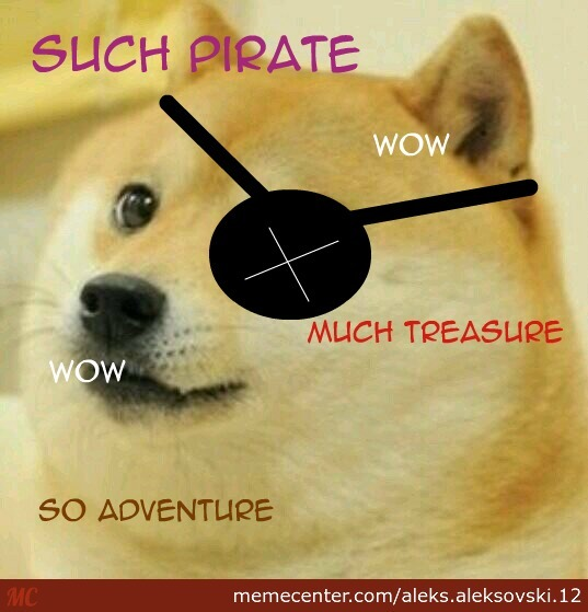 Pirate doge by meme center for Youporn piscine