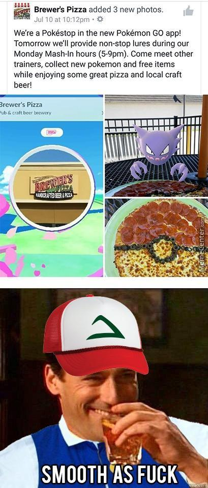 Pizza, Pokemn And Drink, Awesome Marketing