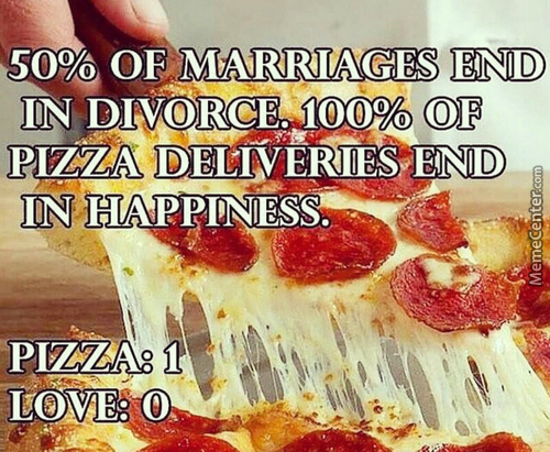 Pizza Vs. Love.