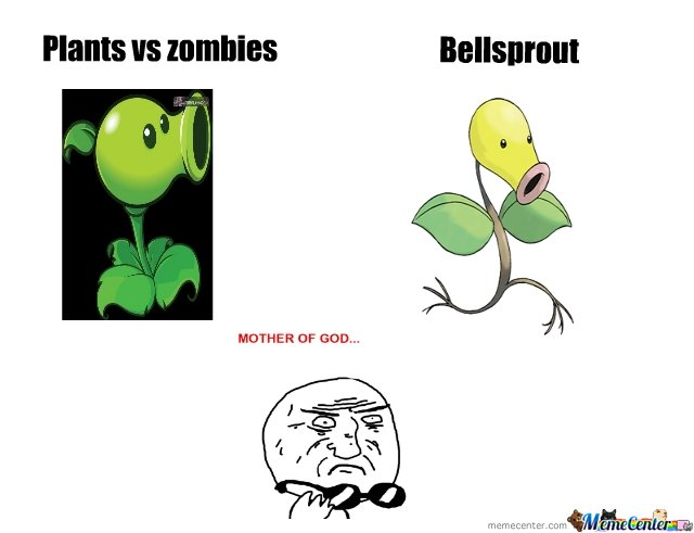 plants vs zombies and bellsprout