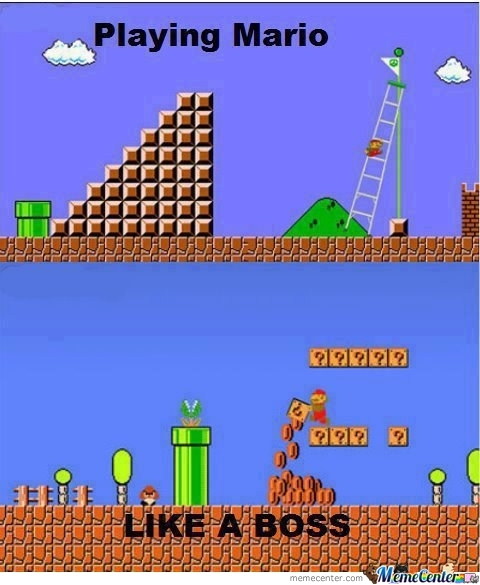 Playing Mario - Like A Boss