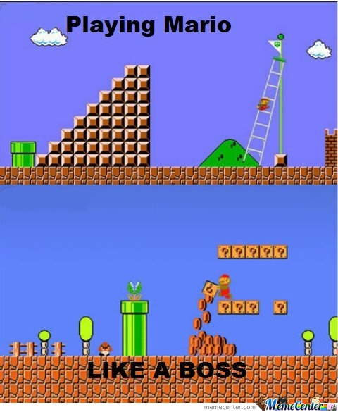 Playing Mario Like A Boss!