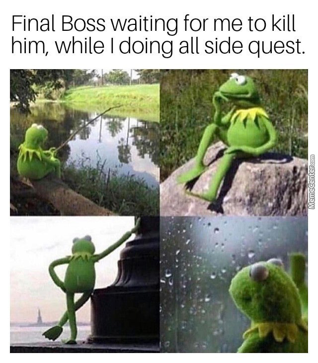 Playing Open World Games Be Like: