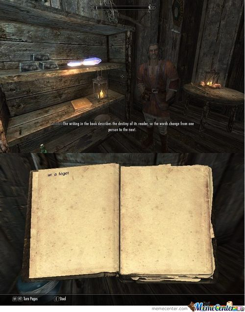Playing Skyrim When Suddenly...