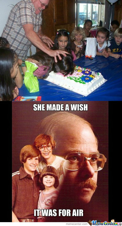 Please Daddy, It's Not The Way I Would Eat My Birthday Cake !