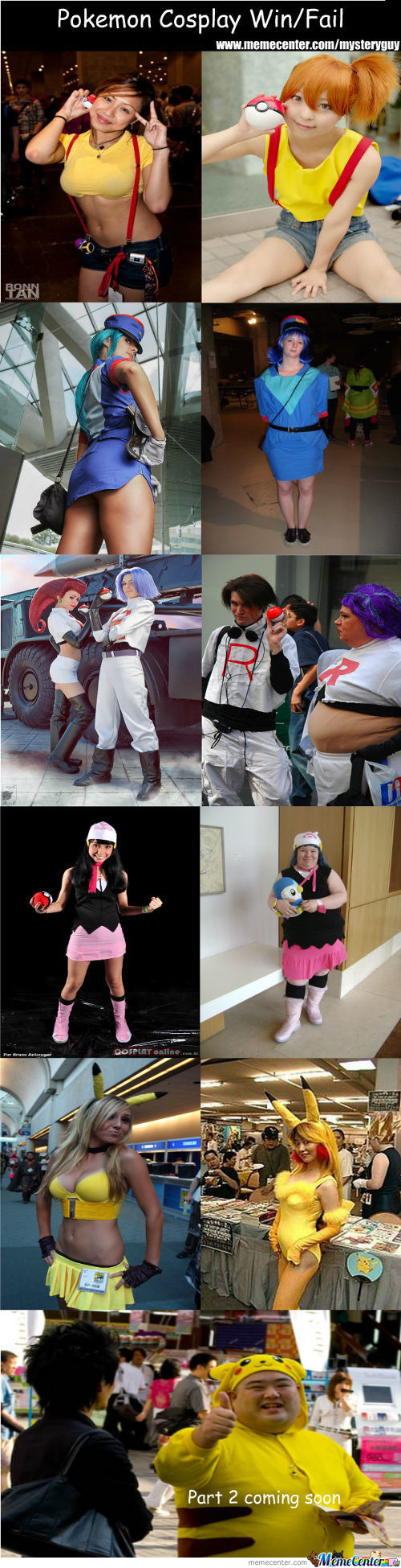 Pokemon Cosplay Win/fail