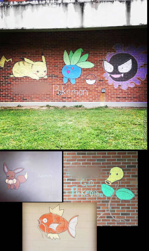 Pokemon Go: Chalk Edition.