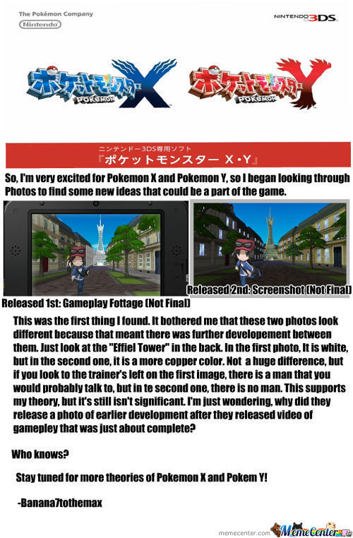 Pokemon X And Y Theory 1