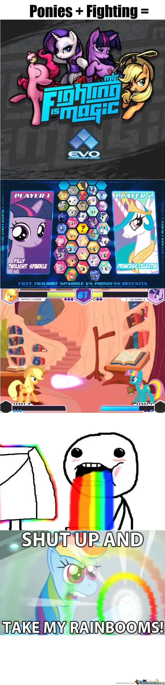 Ponies + Fighting = Awesome!!