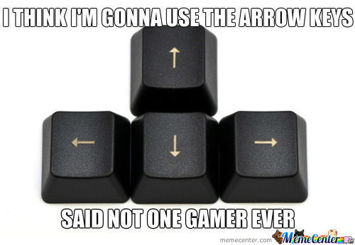 Poor Misunderstood Arrow Keys ..