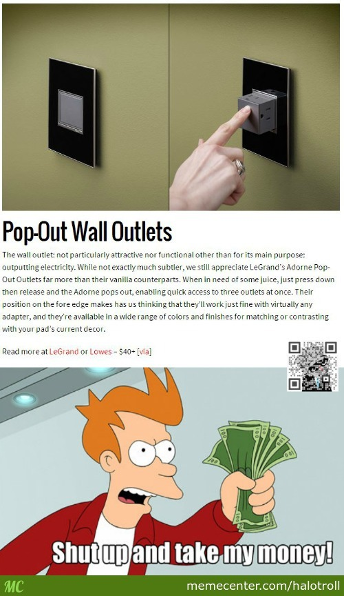 Pop-Out Wall Outlets