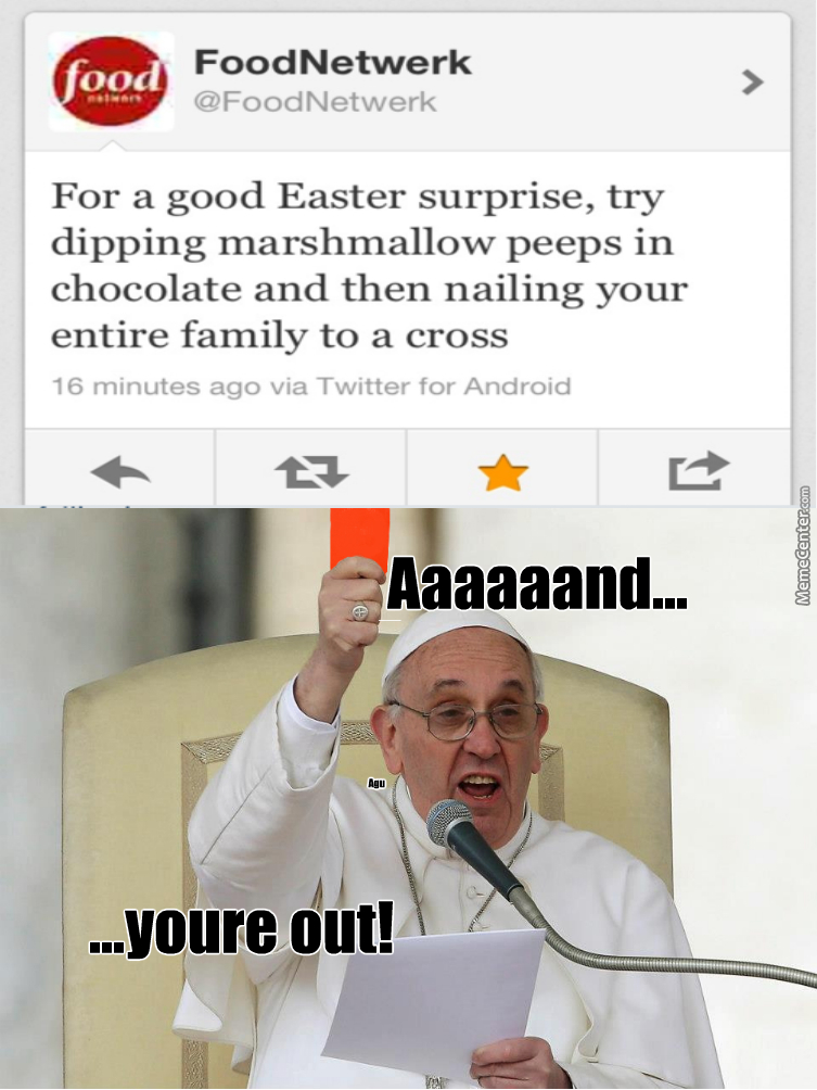 Pope Is Not Amused
