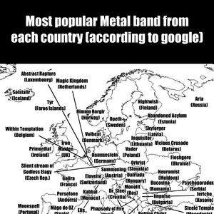 Popular Metal Band From Every Country In Europe by