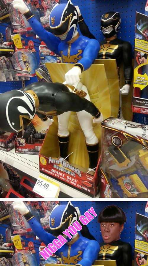 Power Ranger Using Megaforce With Giant Size