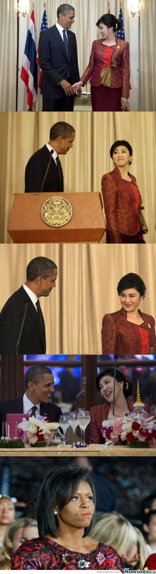 President Obama And Prime Minister Of Thailand