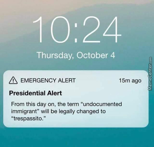 Presidential Alert From Donald Trump