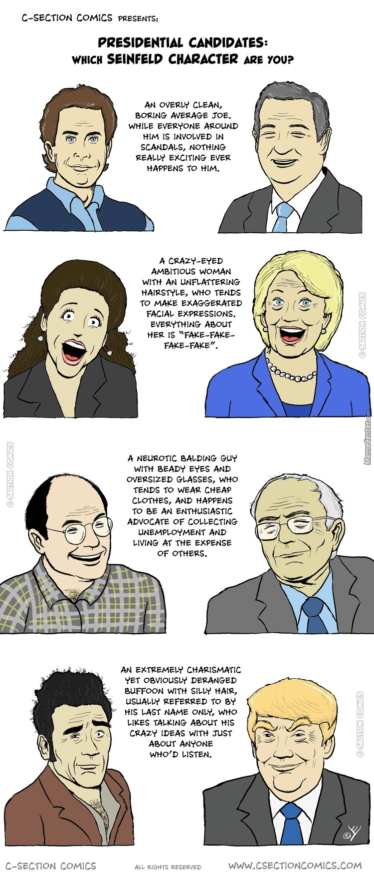 Presidential Candidates As Seinfeld Characters