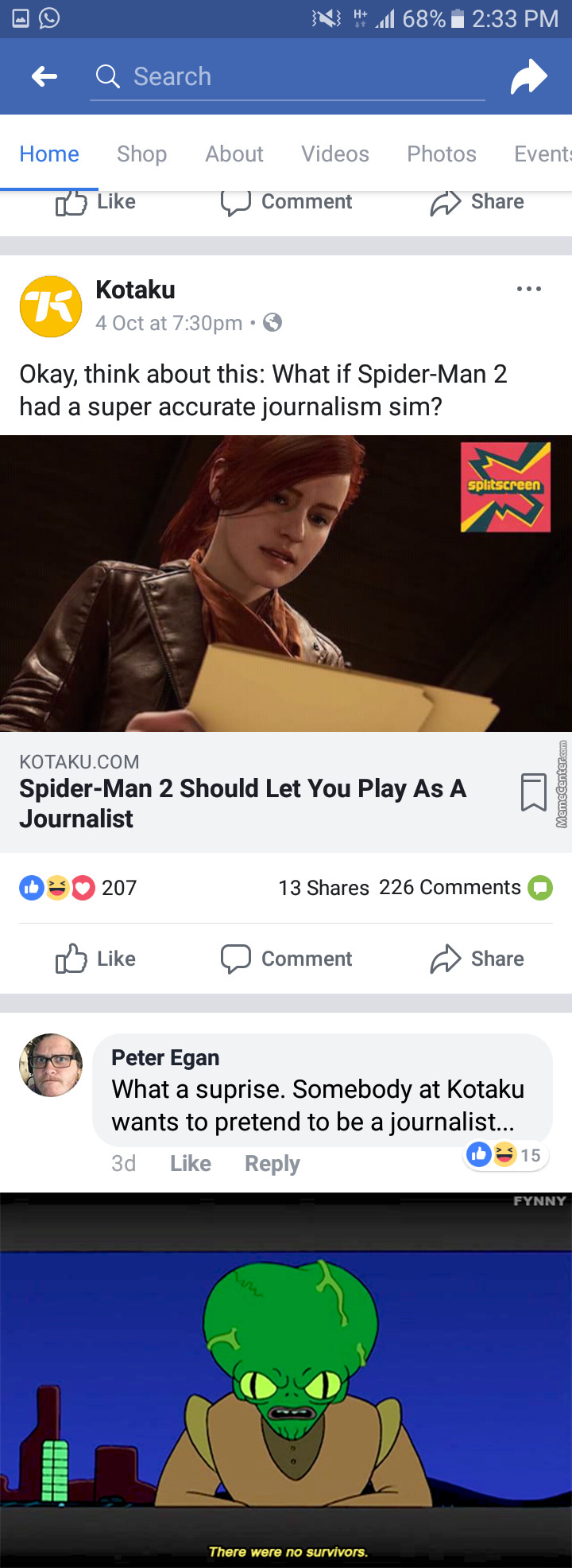 Pretty Sure Kotaku Will Fail In That Game If It Was Real