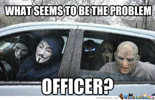 Funny Police Officer Meme : Can we really charge him for the gun funny cop meme picture