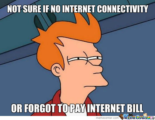 Problem With The Internet