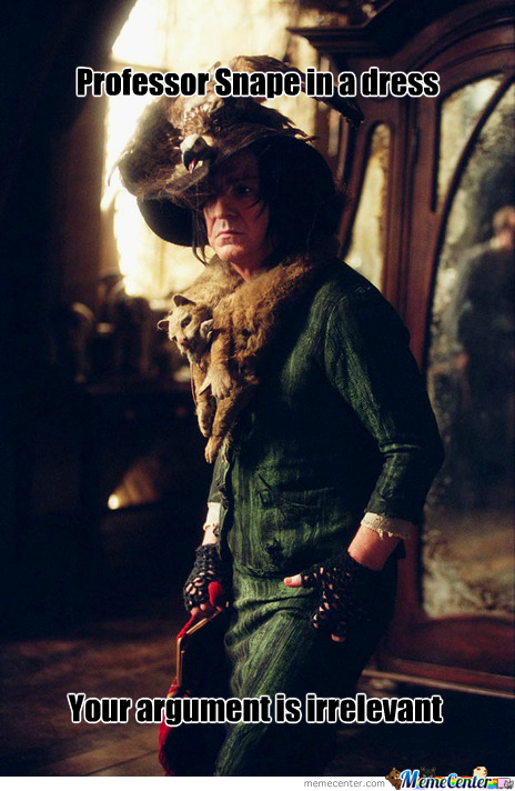Professor Snape In A Dress