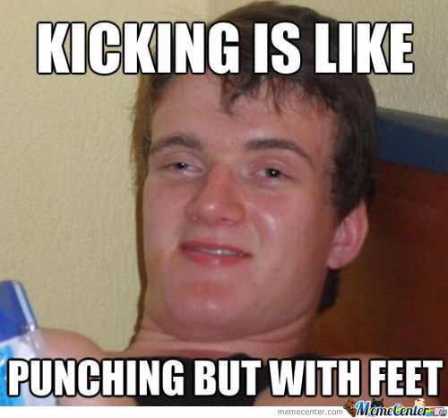 Punching With Feet