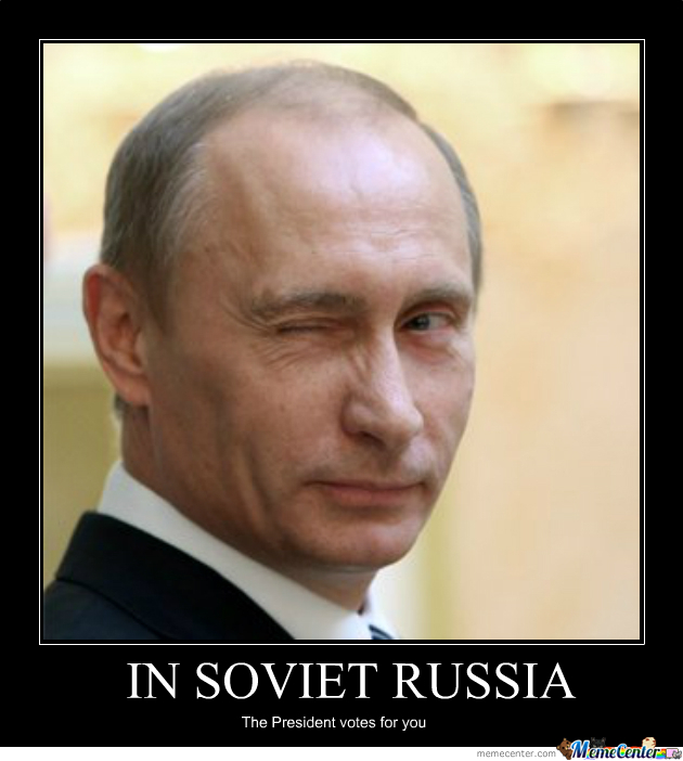 Funny Go Vote Meme : Putin election by patrickhotze meme center