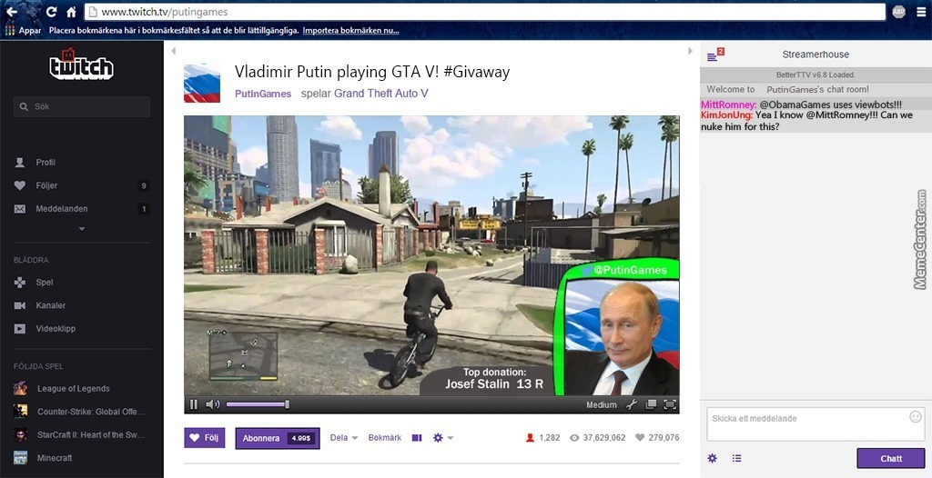 gta v streaming