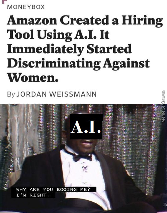 Quick Reminder A.i. Is By Definition Objective In Its Judgement!