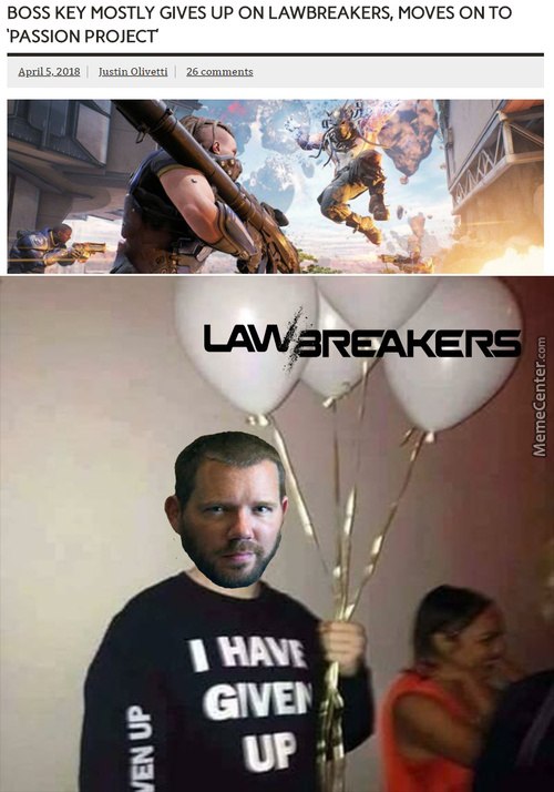 R.i.p. Lawbreakers, You'll Never Be Missed
