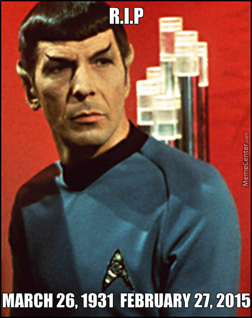 R.i.p Leonard Simon Nimoy (March 26, 1931 – February 27, 2015)