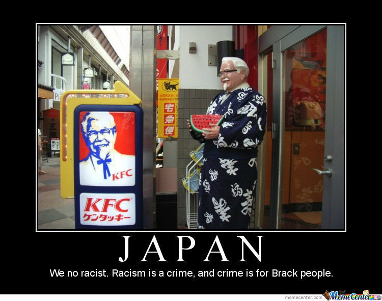 Funny Kfc Signs: Racism In Japan By Harrysmemes
