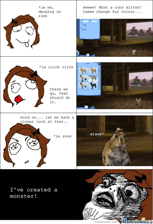 Rage Comics: Damn Sims, You Scary!
