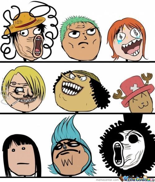 Rage Faces: One Piece