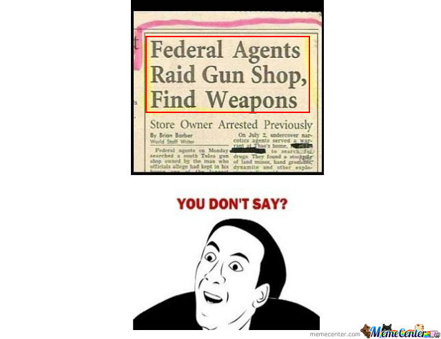Raids Gun Shop Finds Weapons
