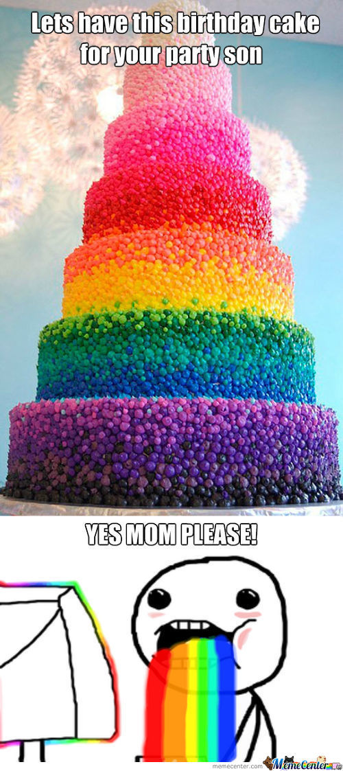 Rainbow Cake For Me?